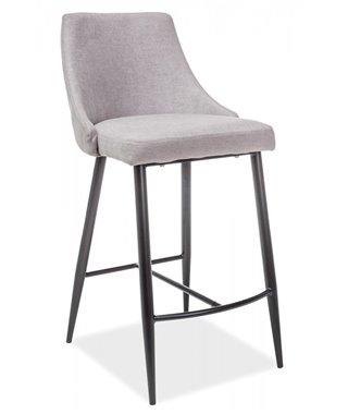 Барный стул Signal NOBEL H-1 (серый/черный мат)