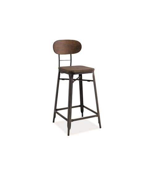 Барный стул Signal LOPE (темный орех/графит)