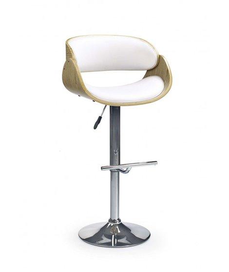 Барный стул Halmar H-43 (дуб светлый/белый)