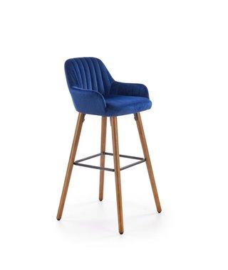 Барный стул Halmar H-93 (синий/орех)