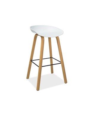Барный стул Signal STING (белый/дуб)