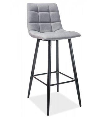 Барный стул Signal SPICE (серый/черный мат)