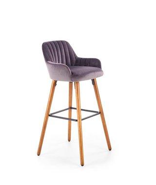 Барный стул Halmar H-93 (темно-серый/орех)