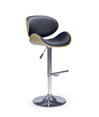 Барный стул Halmar H-44 (дуб светлый/черный)