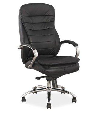 Кресло компьютерное Signal Q-154 (черный, кожа)