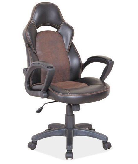 Кресло компьютерное Signal Q-115 (черный/коричневый)
