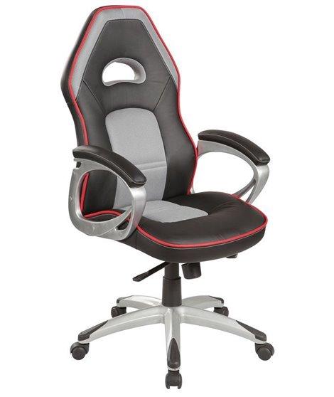 Кресло компьютерное Signal Q-055 (черный/серый/красный)