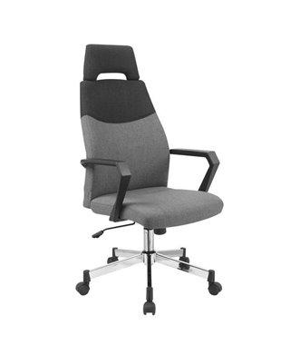 Кресло компьютерное Halmar OLAF (черный/серый)