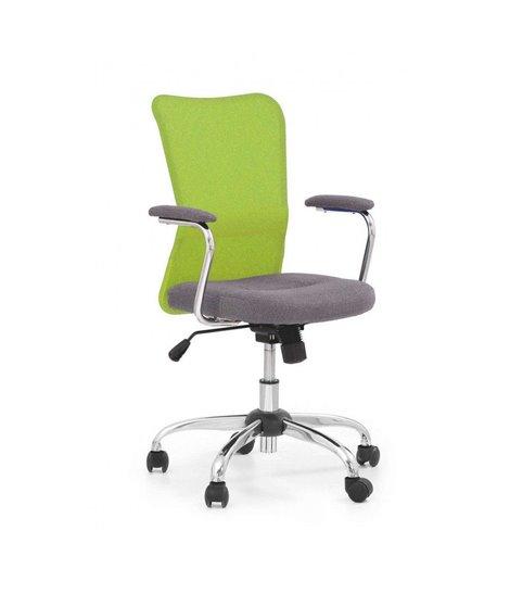 Кресло компьютерное Halmar ANDY (серый/зеленый)