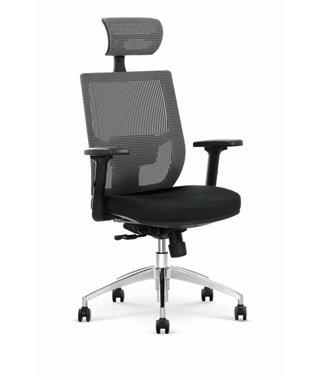Кресло компьютерное Halmar ADMIRAL (черный/серый)