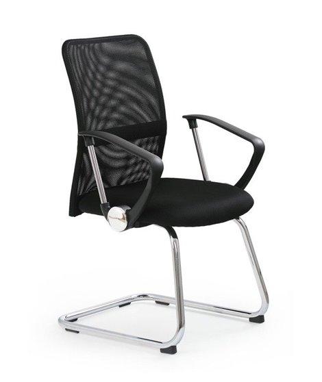 Кресло офисное Halmar VIRE SKID (черный)