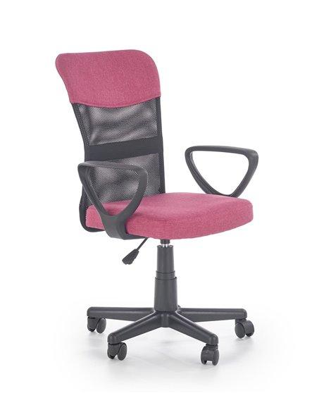 Кресло компьютерное Halmar TIMMY (розовый/черный)