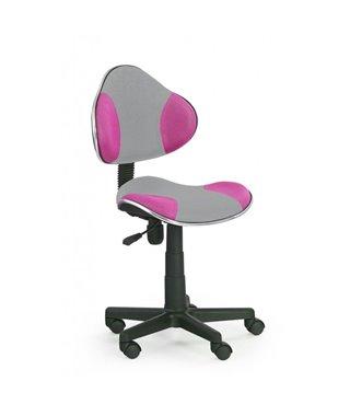 Кресло компьютерное Halmar FLASH 2 (серый/розовый)