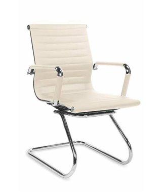 Кресло офисное Halmar PRESTIGE SKID (кремовый)