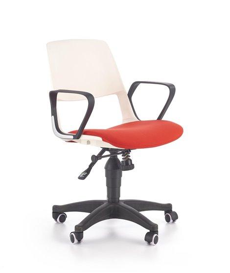 Кресло компьютерное Halmar JUMBO (белый/красный)