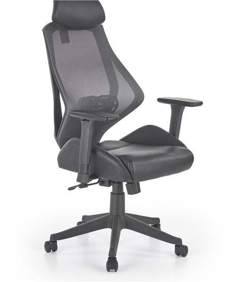 Кресло компьютерное Halmar HASEL (черный/серый)