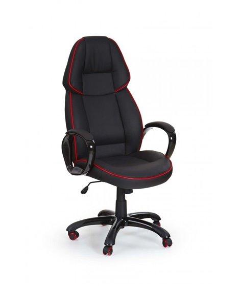 Кресло компьютерное Halmar RUBIN (черный/красный)