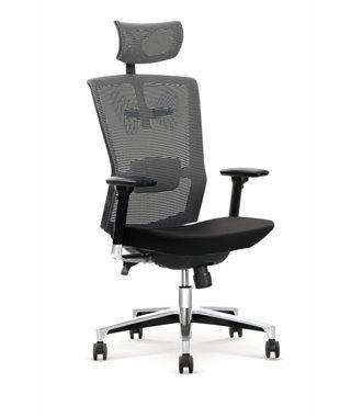 Кресло компьютерное Halmar AMBASADOR (черный/серый)