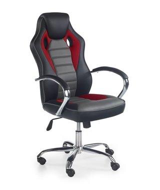 Кресло компьютерное Halmar SCROLL (черный/красный/серый)