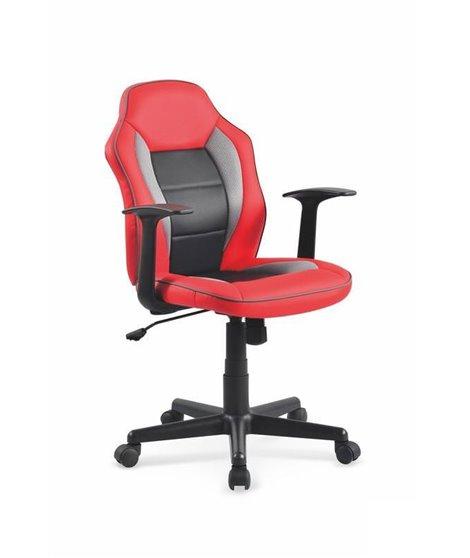 Кресло компьютерное Halmar NEMO (красный/черный/серый)