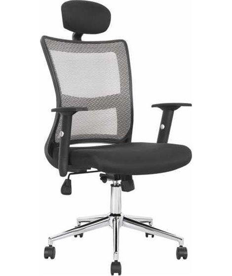 Кресло компьютерное Halmar NEON (черный/светло-серый)