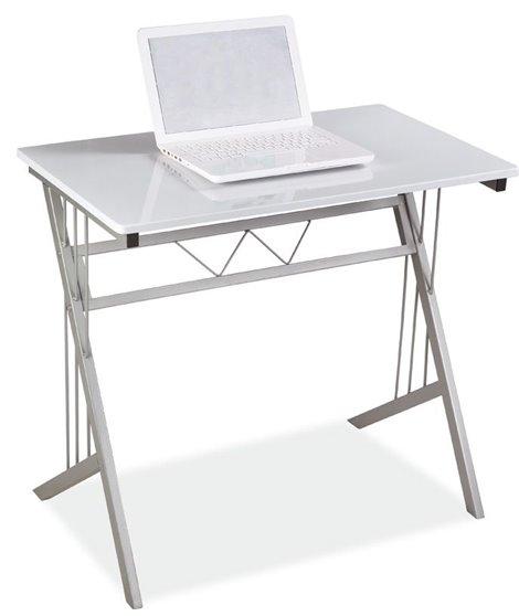 Стол компьютерный Signal B-120 (белый/алюминий)