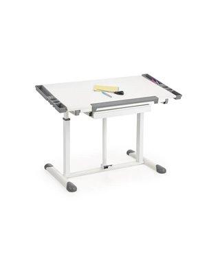 Стол компьютерный Halmar B42 (белый/серый)