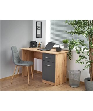 Стол компьютерный Halmar ELMO (антрацит матовый/дуб вотан)