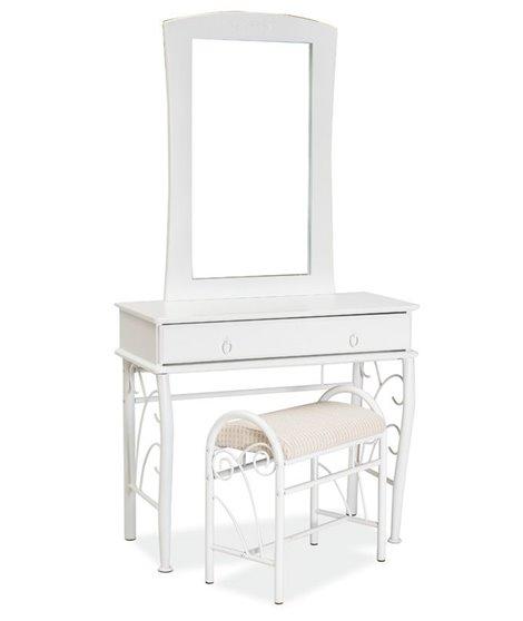 Стол туалетный со стульчиком Signal 1102 (белый)