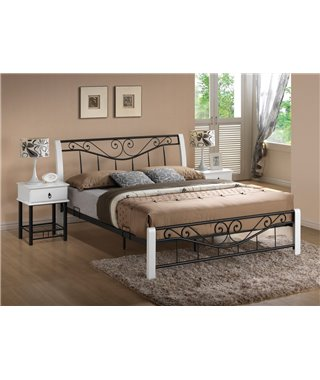 Кровать Signal PARMA (белый/черный) 160/200