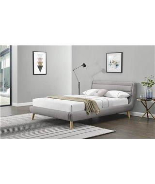 Кровать Halmar ELANDA (светло-серый/натуральный) 180/200