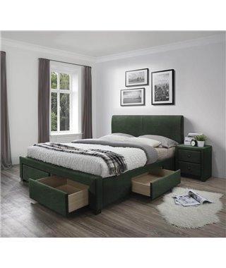 Кровать Halmar MODENA 3 (темно-зеленый) 160/200