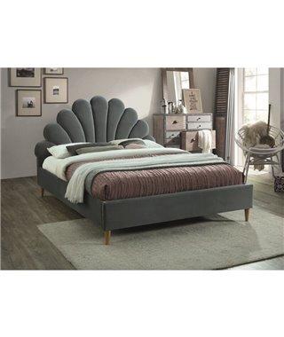 Кровать Signal SANTANA VELVET (серый/дуб) 160/200