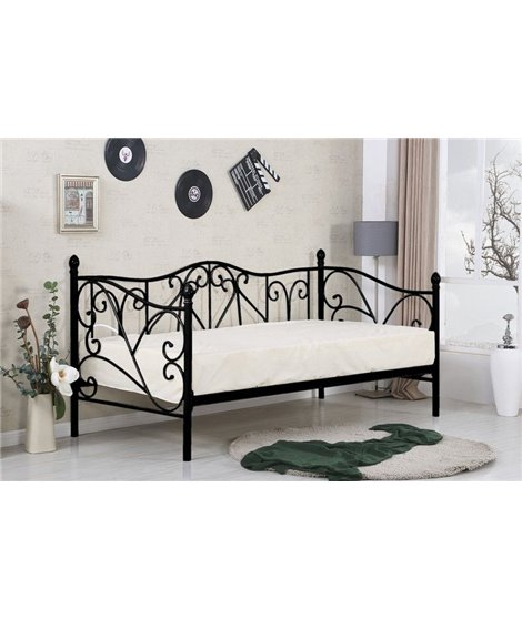 Кровать Halmar SUMATRA (черный) 90/200
