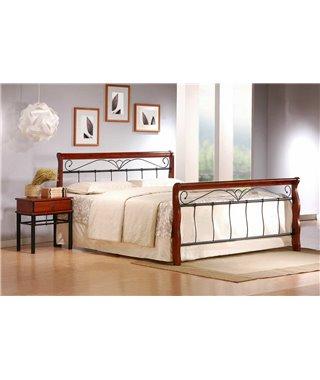 Кровать Halmar VERONICA (черешня античная/черный) 160/200