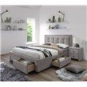 Кровать Halmar EVORA (бежевый) 160/200