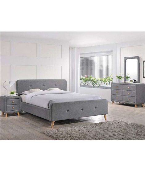Кровать Signal MALMO (серый) 180/200