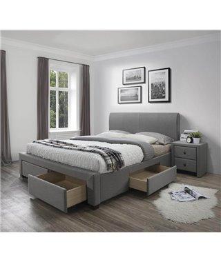 Кровать Halmar MODENA (серый) 180/200