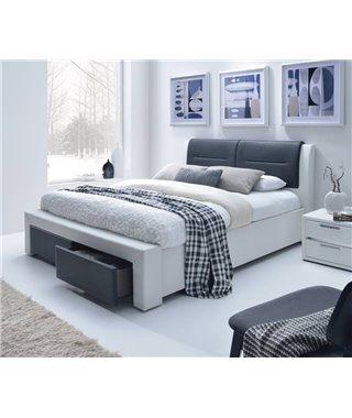 Кровать Halmar CASSANDRA-S (белый/черный) 140/200