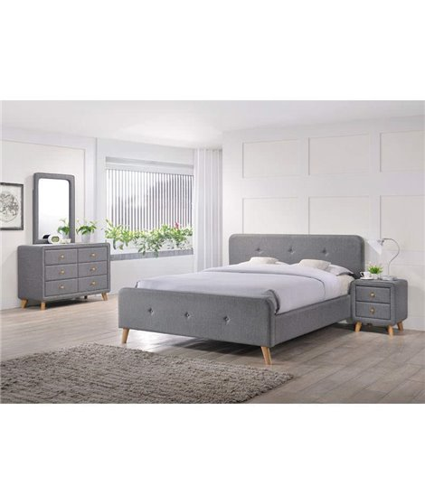 Кровать Signal MALMO (серый) 140/200