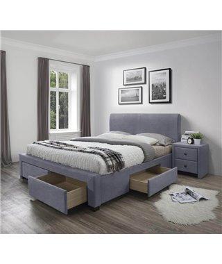 Кровать Halmar MODENA 3 (серый) 160/200