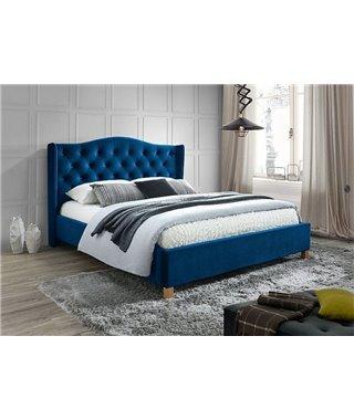 Кровать Signal ASPEN Velvet (темно-синий) 160/200