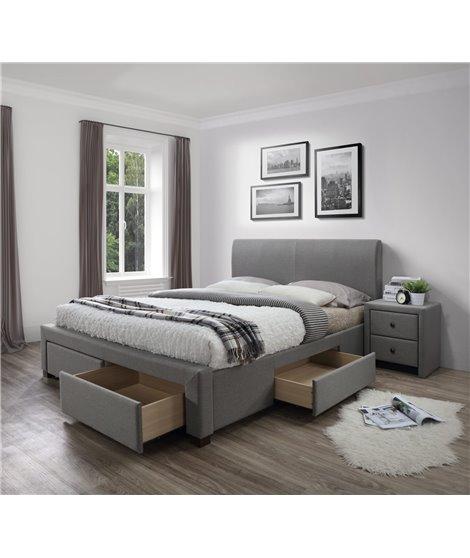 Кровать Halmar MODENA (серый) 140/200