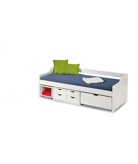 Кровать Halmar FLORO 2 (белый) 90/200