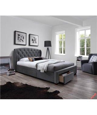 Кровать Halmar SABRINA (серый) 160/200