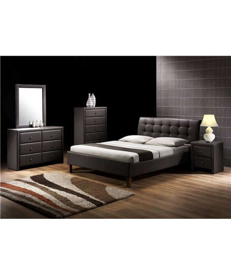 Кровать Halmar SAMARA (черный) 160/200