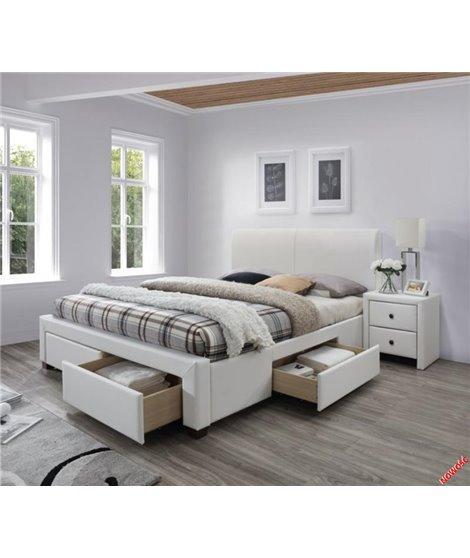 Кровать Halmar MODENA 2 (белый) 160/200