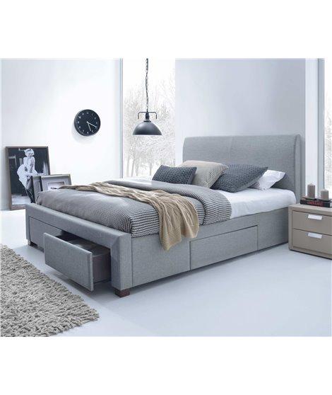 Кровать Halmar MODENA (серый) 160/200