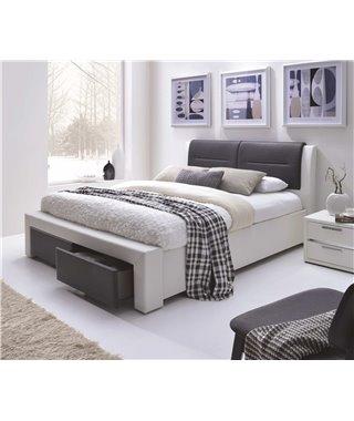 Кровать Halmar CASSANDRA-S (белый/черный) 160/200