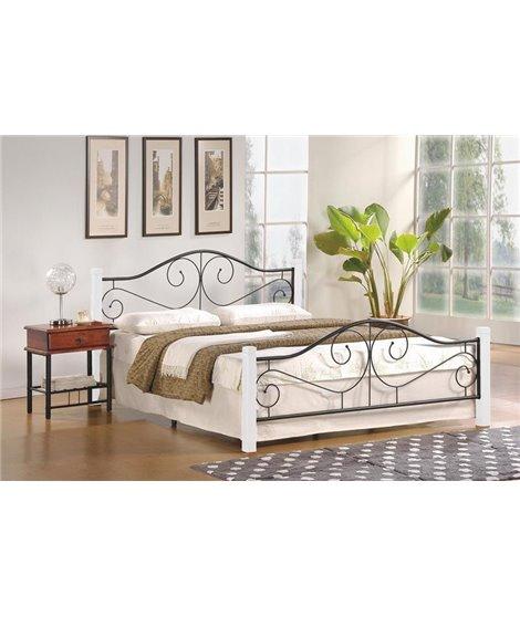 Кровать Halmar VIOLETTA (белый/черный) 160/200